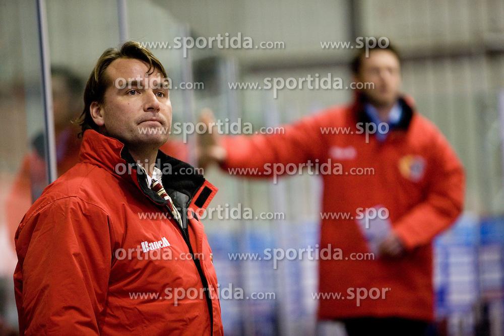 Head coach of Jesenice Mike Posma at 28th Round  ice hockey match of EBEL league between HK Acroni Jesenice and HDD Tilia Olimpija Ljubljana, on December 4, 2009, in Arena Podmezaklja, Jesenice, Slovenia. Olimpija defeated Jesenice 8-7. (Photo by Vid Ponikvar / Sportida)