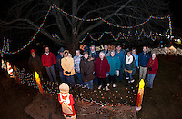 Christmas Tree lighting at Lakeport Square Friday evening.   (Karen Bobotas/for the Laconia Daily Sun)