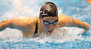 Samantha Lee of the All Stars team swims in the 16+ Women's 200m Butterfly race during the Senior Zonal Championship at the Wellington Regional Aquatic Centre in Kilbirnie in Wellington on Friday the 4th of October 2013. Photo by Marty Melville/www.photosport.co.nz