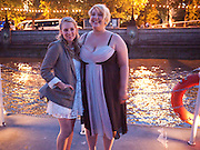 JENNI BARBER; ASHLIE ATKINSON, The opening night party for the second year of The Bridge Project,   Silverfleet on the River Thames. Savoy Pier. London. 23 June 2010. -DO NOT ARCHIVE-© Copyright Photograph by Dafydd Jones. 248 Clapham Rd. London SW9 0PZ. Tel 0207 820 0771. www.dafjones.com.