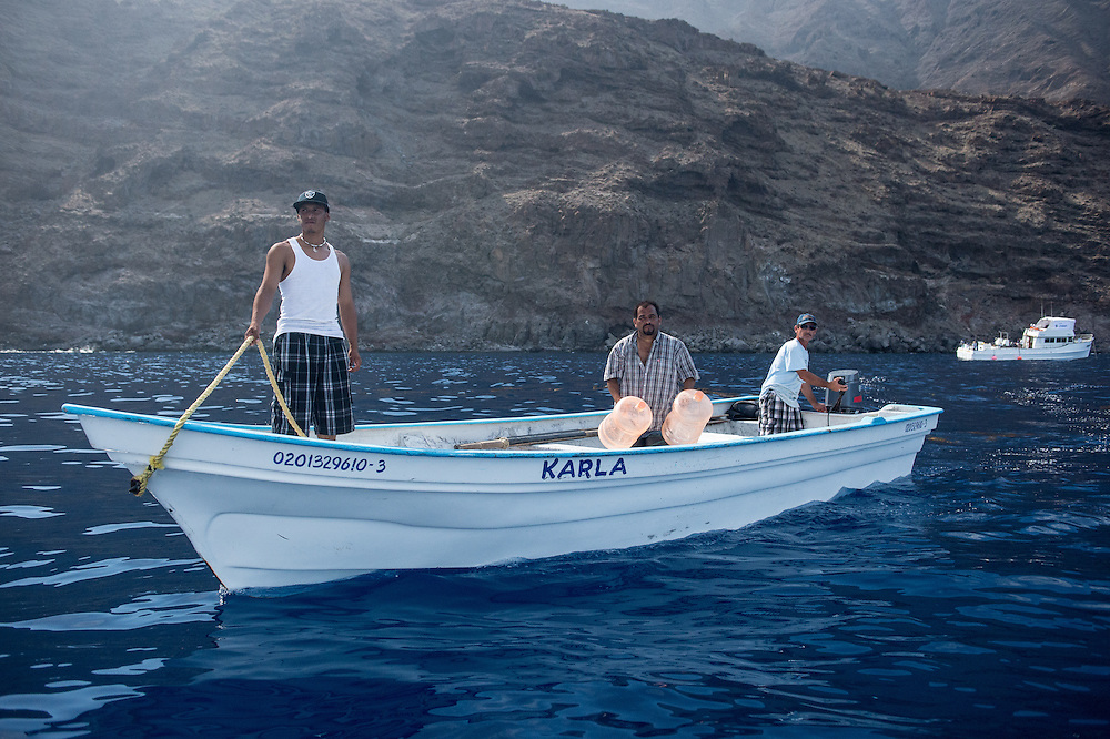 Fishermen at Guadalupe Island live there for 6 months a year to profit of the lobster and abalone concessions
