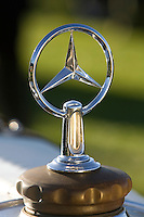 PEBBLE BEACH, CA - AUGUST 19: The hood ornament of a 1930 Mercedes SS at the 2007 Pebble Beach Concours d'Elegance on August 19, 2007 in Pebble Beach, California.  (Photo by David Paul Morris)
