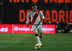 March 1, 2019 - Madrid, Madrid, Spain - Alex Moreno of Rayo Vallecano in action during La Liga Spanish championship, , football match between Rayo Vallecano and Girona , March 01th, in Estadio de Vallecas in Madrid, Spain. (Credit Image: © AFP7 via ZUMA Wire)