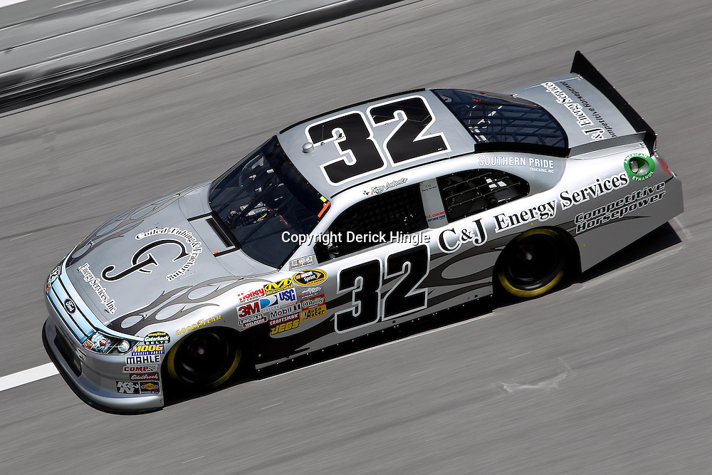 April 16, 2011; Talladega, AL, USA; NASCAR Sprint Cup Series driver Terry Labonte (32) during qualifying for the Aarons 499 at Talladega Superspeedway.   Mandatory Credit: Derick E. Hingle