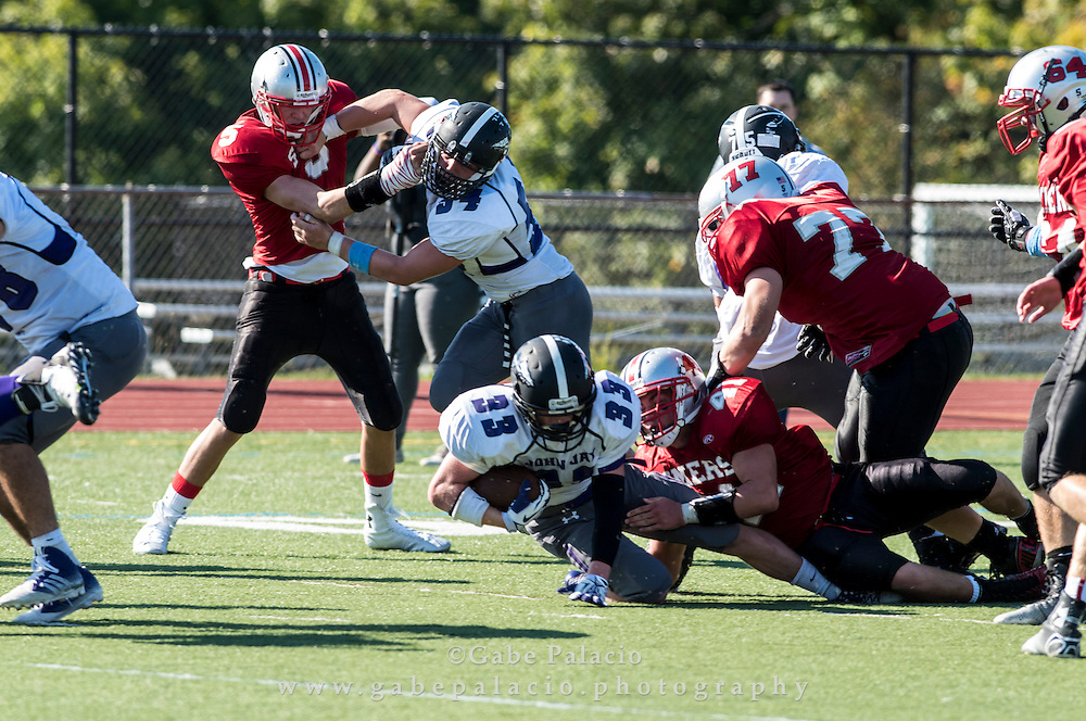 John Jay Varsity Football game at Somers on September 27, 2014. (photo by Gabe Palacio)
