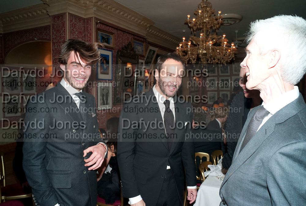 Jon Kortajarena; TOM FORD; Graydon Carter hosts a diner for Tom Ford to celebrate the London premiere of ' A Single Man' Harry's Bar. South Audley St. London. 1 February 2010