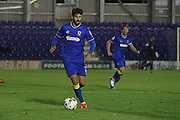 AFC Wimbledon defender George Francomb (7) during the EFL Trophy match between AFC Wimbledon and Plymouth Argyle at the Cherry Red Records Stadium, Kingston, England on 4 October 2016. Photo by Stuart Butcher.