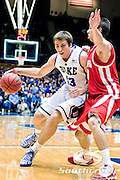 21 November 2009: Duke Soph. Forward #13 Olek Czyz looks for an opening aginst Radford (30 Phillip Martin senior forward ..Duke Rolls Past Radford 104-67 .Mandatory Credit: Mark Abbott / Southcreek Global
