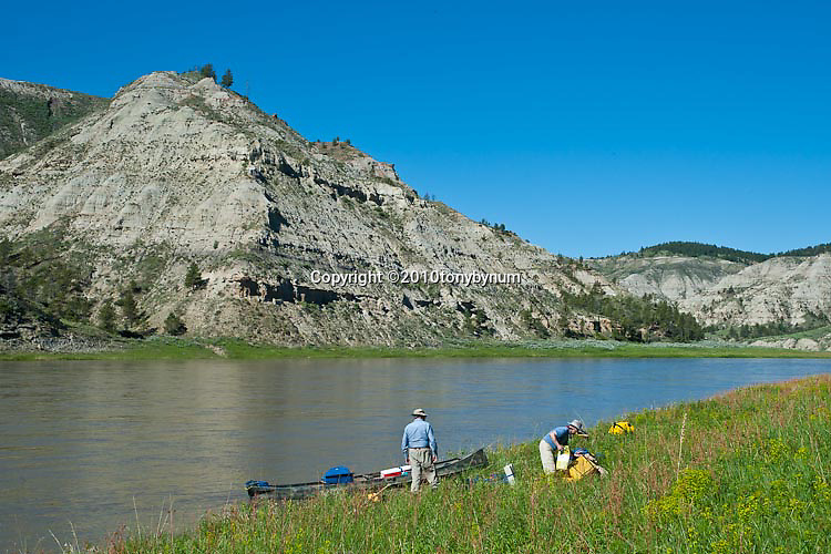 people loading canoe trip down upper missouri river montana monument wild and scenic river