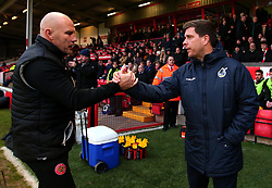 Bristol Rovers manager Darrell Clarke and Walsall manager Jon Whitney shake hands - Mandatory by-line: Robbie Stephenson/JMP - 26/12/2017 - FOOTBALL - Banks's Stadium - Walsall, England - Walsall v Bristol Rovers - Sky Bet League One