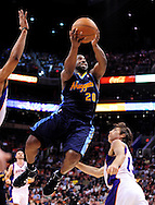 Mar. 10, 2011; Phoenix, AZ, USA; Denver Nuggets guard Raymond Felton (20) puts up a shot against the Phoenix Suns at the US Airways Center. Mandatory Credit: Jennifer Stewart-US PRESSWIRE