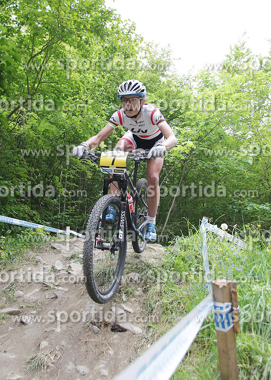 01.06.2014, Bullentaele, Albstadt, GER, UCI Mountain Bike World Cup, Cross Country Damen, im Bild Maja Wloszczowska Polen // during Womens Cross Country Race of UCI Mountainbike Worldcup at the Bullentaele in Albstadt, Germany on 2014/06/01. EXPA Pictures © 2014, PhotoCredit: EXPA/ Eibner-Pressefoto/ Langer<br /> <br /> *****ATTENTION - OUT of GER*****