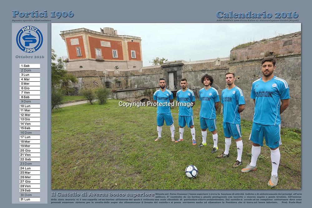 Portici Napoli 26 Novembre 2015<br /> Calendario 2016 ASD Portici 1906 calcio<br /> Foto e realizzazione grafica : Stefano Renna