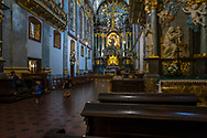 The interior of the basilica in the Sanctuary of Jasna Góra, Poland 2018.