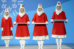 February 12, 2018 - Pyeongchang, South Korea - Medals bearers at the PyeongChang Olympic games. (Credit Image: © Christopher Levy via ZUMA Wire)