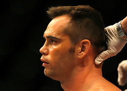 October 20, 2007; CIncinnati, OH, USA;  Rich Franklin during his rematch against UFC middleweight champion Anderson Silva at the US Bank Arena in Cincinnati, OH.
