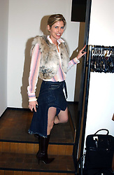BROOKE DE OCAMPO at an exhibition of photographs by Matthew Mellon entitled Famous Feet - featuring well known people wearing shoes from Harrys of London, held at Hamiltons Gallery, Carlos Place, London on 22nd November 2004.<br /><br />NON EXCLUSIVE - WORLD RIGHTS
