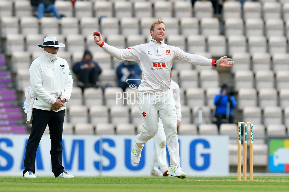 Simon Harmer of Essex running in to bowl during the first day of the Specsavers County Champ Div 1 match between Hampshire County Cricket Club and Essex County Cricket Club at the Ageas Bowl, Southampton, United Kingdom on 5 April 2019.
