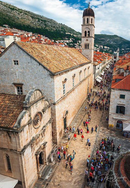 The Franciscan Monastery and old town Dubrovnik, Dalmatian Coast, Croatia