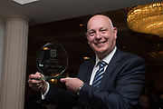 Mark Lawson, great grandson of John 'Sailor' Hunter pictured with Dundee's Scottish Cup winning hero's Dundee FC Hall of fame award-  at the Dundee FC 2017 Hall of Fame dinner at Invercarse, Dundee, Photo: David Young<br /> <br />  - &copy; David Young - www.davidyoungphoto.co.uk - email: davidyoungphoto@gmail.com