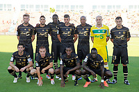 FOOTBALL - FRENCH CHAMPIONSHIP 2012/2013 - L2 - TOURS FC v FC NANTES - 17/08/2012 - PHOTO JEAN MARIE HERVIO / REGAMEDIA / DPPI - TEAM NANTES ( BACK ROW LEFT TO RIGHT: LUCAS DEAUX / GABRIEL CICHERO / PAPY MISON DJILOBODJI / FILIP DJORDJEVIC / FABRICE PANCRATE / REMY RIOU / YOHAN EUDELINE. FRONT ROW: OLIVIER VEIGNEAU / ADRIEN TREBEL / BIRAMA TOURE / ISSA CISSOKHO )