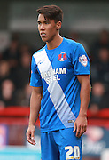 Leyton Orient defender Adam Chicksen during the Sky Bet League 2 match between Crawley Town and Leyton Orient at the Checkatrade.com Stadium, Crawley, England on 10 October 2015. Photo by Bennett Dean.