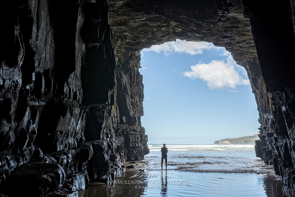 Cathedral Caves is one of the thirty longest sea caves in the world, located in the Catlins, South Island, New Zealand