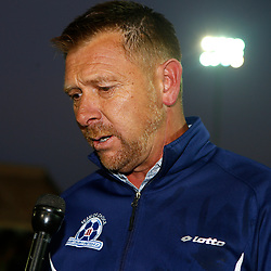 Eric Tinkler (Head Coach) of Maritzburg Utd during the Premier Soccer League (PSL) promotion play-off  match between  Royal Eagles and Maritzburg United F.C. at the Chatsworth Stadium Durban.South Africa,29,05,2019