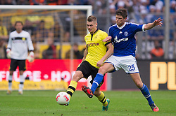 20-10-2012 VOETBAL: BORUSSI DORTMUND - FC SCHALKE 04: DORTMUND<br /> Lukasz Piszczek (#26 Dortmund) und Klaas-Jan Huntelaar <br /> ***NETHERLANDS ONLY***<br /> ©2012-FotoHoogendoorn.nl-NPH/Kurth