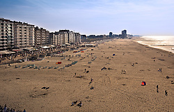 View of the beach and promenade from the Ostend Queen restaurant on top of the Ostend Casino, in Ostend, Belgium, Sunday, Sept. 14, 2008. (Photo © Jock Fistick)