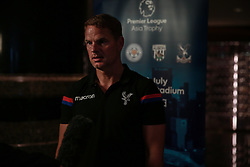 HONG KONG, CHINA - Monday, July 17, 2017: New Crystal Palace manager Frank de Boer speaks to the media at the Grand Hyatt Hong Kong, ahead of the Premier League Asia Trophy 2017. (Pic by FA Premier League/Pool/Propaganda)