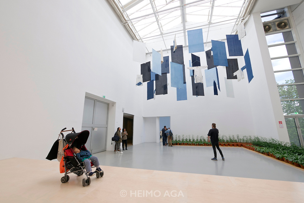 Kassel, Germany. Opening days of documenta14.<br /> documenta-Halle.<br /> Aboubakar Fofana (Mali): Fundi (Aufstand), 2017