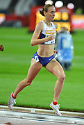 Laura Weightman winner of the womens 1500m at the Sainsbury's Anniversary Games at the Queen Elizabeth II Olympic Park, London, United Kingdom on 24 July 2015. Photo by Mark Davies.