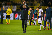 Tottenham Hotspur Manager Mauricio Pochettino celebrates at full time during the Champions League round of 16, leg 2 of 2 match between Borussia Dortmund and Tottenham Hotspur at Signal Iduna Park, Dortmund, Germany on 5 March 2019.