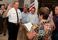Swearing in ceremony for Gilford Police Chief Kevin Keenan and Gilford Fire Chief Stephen Carrier at Town Hall on October 3, 2011.