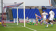 Dundee's Darren O'Dea scores his side's second goal - Inverness Caledonian Thistle v Dundee in the Ladbrokes Scottish Premiership at Caledonian Stadium, Inverness.Photo: David Young<br /> <br />  - © David Young - www.davidyoungphoto.co.uk - email: davidyoungphoto@gmail.com