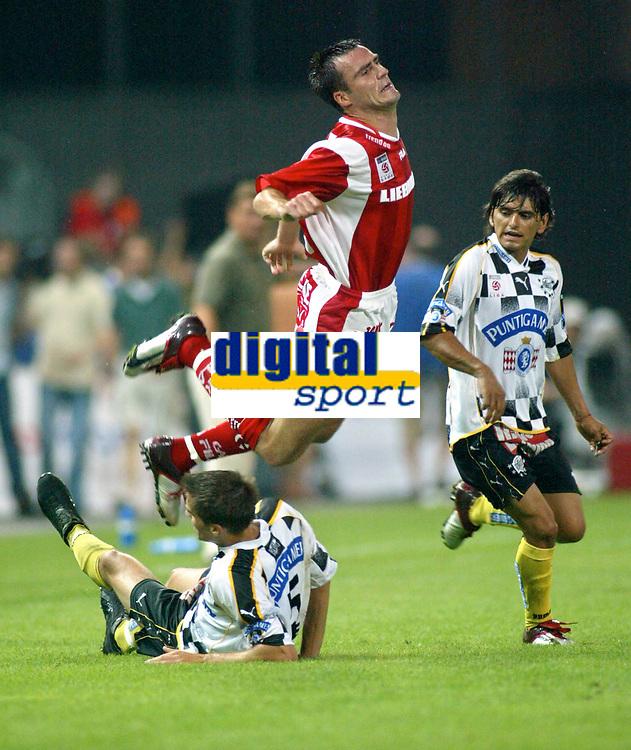 ◊Copyright:<br />GEPA pictures<br />◊Photographer:<br />Mathias Kniepeiss<br />◊Name:<br />Ehmann<br />◊Rubric:<br />Sport<br />◊Type:<br />Fussball<br />◊Event:<br />T-Mobile Bundesliga, GAK Graz vs SK Sturm Graz<br />◊Site:<br />Graz/Austria<br />◊Date:<br />06/08/04<br />◊Description:<br />Mitja Moerec (Sturm), Anton Ehmann (GAK), Francisco Rojas (Sturm)<br />◊Archive:<br />DCSKP-0608047025<br />◊RegDate:<br />07.08.2004<br />◊Note:<br />9 MB - MP/KP