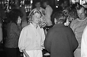 A blond girl at the Golden Monkey club, Guernsey 1986