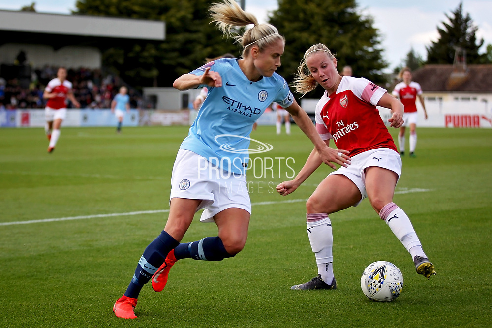 Arsenal midfielder Kim Little (10) during the FA Women's Super League match between Arsenal Women FC and Manchester City Women at Meadow Park, Borehamwood, United Kingdom on 12 May 2019.