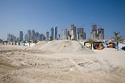 Dubai Marina residential area construction site.