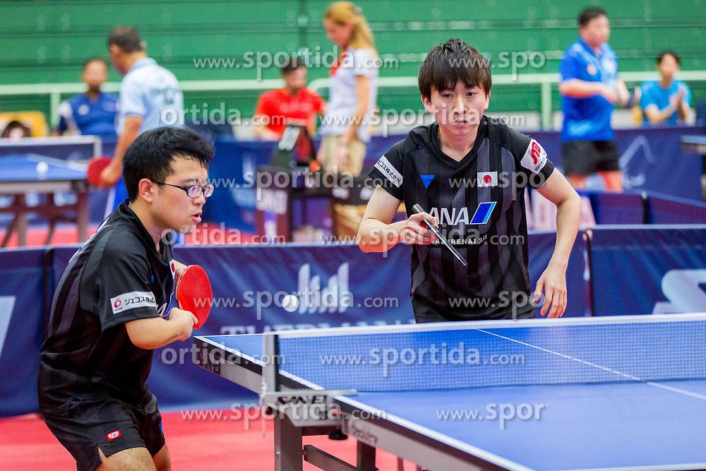 (Team JPN) YAGI Katsuyoshi and KANEKO Kazuya in action during 15th Slovenia Open - Thermana Lasko 2018 Table Tennis for the Disabled, on May 10, 2018 in Dvorana Tri Lilije, Lasko, Slovenia. Photo by Ziga Zupan / Sportida