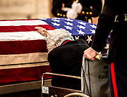 Annie Glen says goodbye to husband Sen. John Glenn, of 73 years as he lies in honor in the Statehouse Rotunda. John Glenn leaves behind a legacy fit for an American hero. Before becoming a senator, he flew in 149 combat missions and was the first man to orbit Earth from outer space.