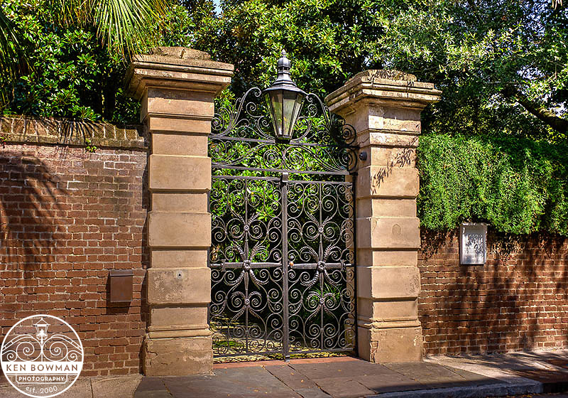 Phillip Simmons Sword Gates on Legare Street.