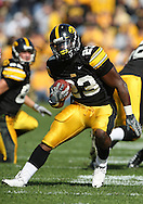18 OCTOBER 2008: Iowa running back Shonn Greene (23) runs 34 yards for a touchdown in the first half of an NCAA college football game against Wisconsin, at Kinnick Stadium in Iowa City, Iowa on Saturday Oct. 18, 2008. Iowa won 38-16.