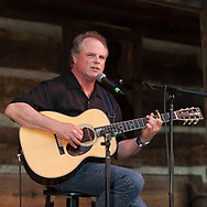 Pat Donohue plays the Cabin Stage at Merlefest 2009 in Wilkesboro NC