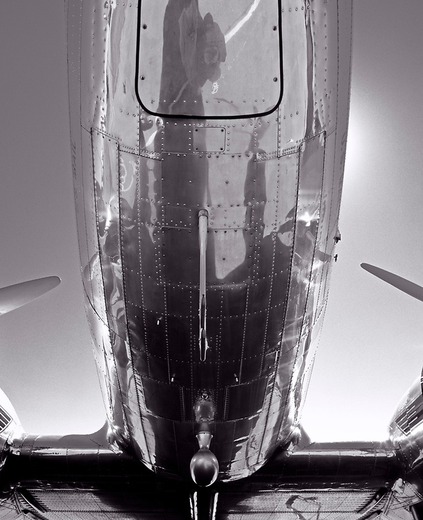The belly of the restored Delta DC-3.