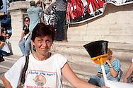 Roma 30 Maggio 2011.La citta' sbilanciata .Sciopero Metropolitano e  manifestazione dei Movimenti per il diritto alla casa, sindacati di base, associazioni ambientaliste e culturali, comitati di quartiere, spazi sociali contro la Giunta Alemanno che presenta  il bilancio lacrime, sangue e tagli  che la sua giunta si appresta a portare in consiglio comunale..