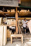 Wood Market, Klong Toey port. Bangkok. Thailand