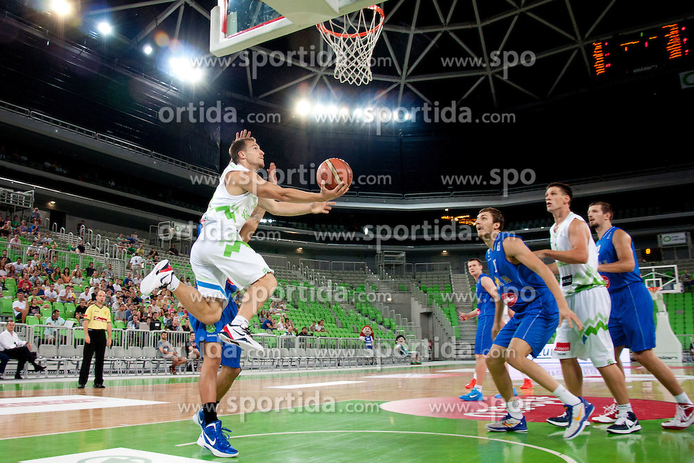 during friendly basketball match between National teams of Slovenia and Bosnia i Hercegovina of Adecco Ex-Yu Cup 2012 as part of exhibition games 2012, on August 3rd, 2012, in Arena Stozice, Ljubljana, Slovenia. (Photo by Urban Urbanc / Sportida)