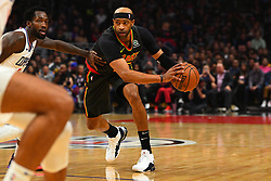 January 29, 2019 - Los Angeles, CA, U.S. - LOS ANGELES, CA - JANUARY 28: Atlanta Hawks Forward Vince Carter (15) looks to drive to the basket during a NBA game between the Atlanta Hawks and the Los Angeles Clippers on January 28, 2019 at STAPLES Center in Los Angeles, CA. (Photo by Brian Rothmuller/Icon Sportswire) (Credit Image: © Brian Rothmuller/Icon SMI via ZUMA Press)